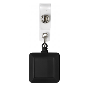 Square Black Badge Reel