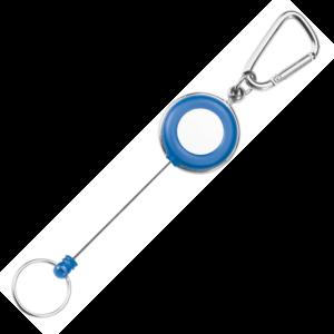 Carabiner Blue Ski Pass Reel