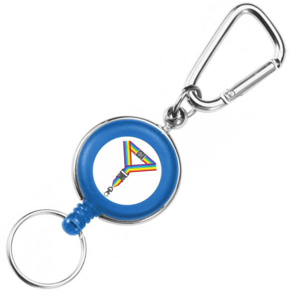 Blue Carabiner Badge Reels