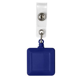 Square Blue Badge Reel