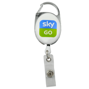Printed White Carabiner Badge Reel