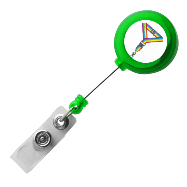 Translucent Light Green Lanyard Reels
