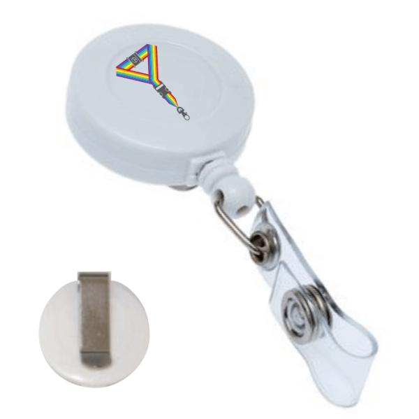Printed White Clip Badge Reel