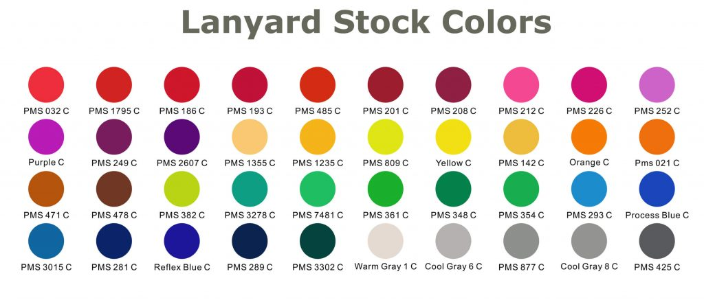 lanyard stock colours