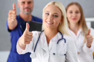 Happy NHS Staff